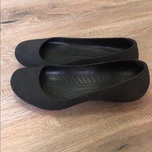 CROCS Shoes - Women's black Croc slip ons